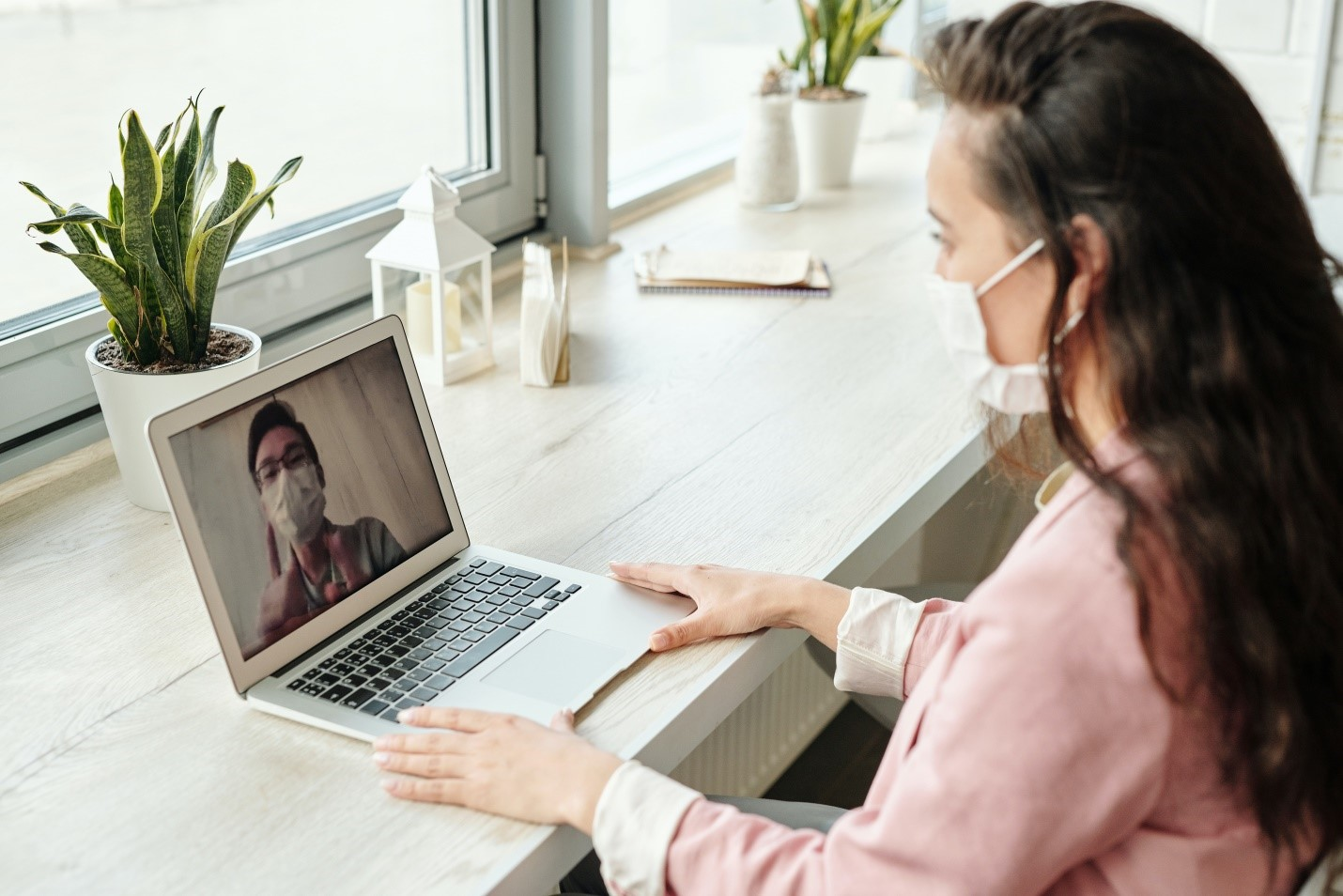 An online video consultation between a patient and doctor